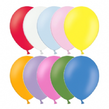 "Belbal 10"" Solid Assortment Latex Balloons 100pcs"